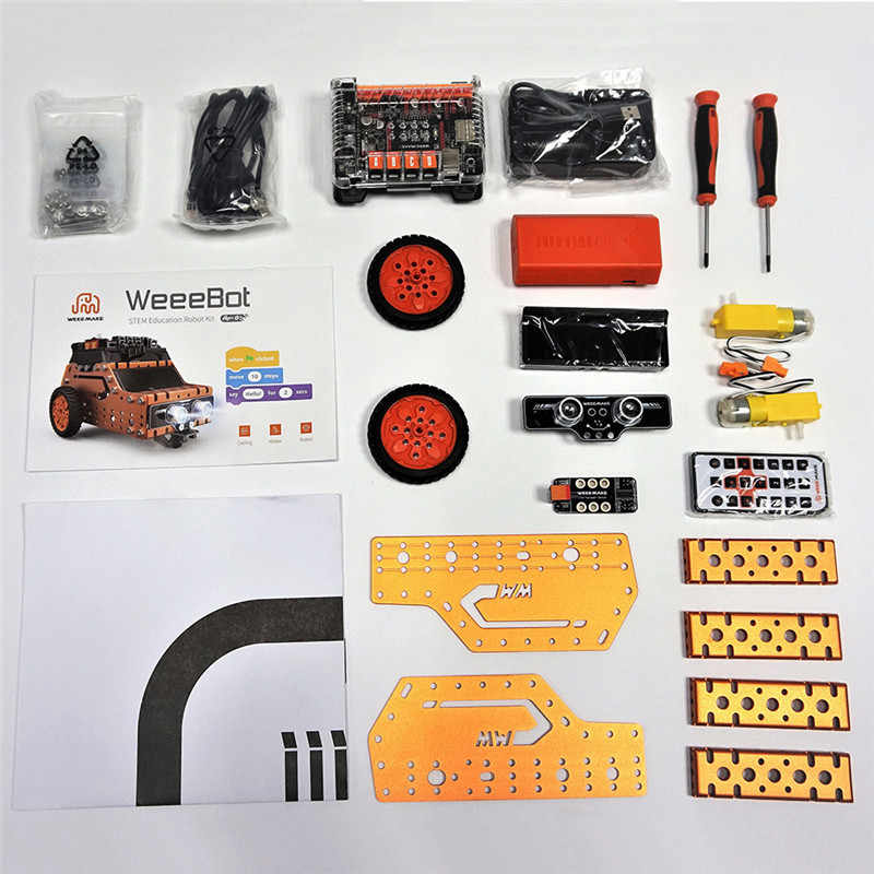 WeeeMake WeeeBot 3 em VAPOR 1 RC Robot Carro Inteligente Infravermelho Obstacle Avoidance Programável Controle APP bluetooth Kit Educativo