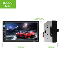 Car MP5 Player FM Transmitter USB Charger Adapter Steering Wheel controls U disk LCD Display Car Kit For IOS for Android