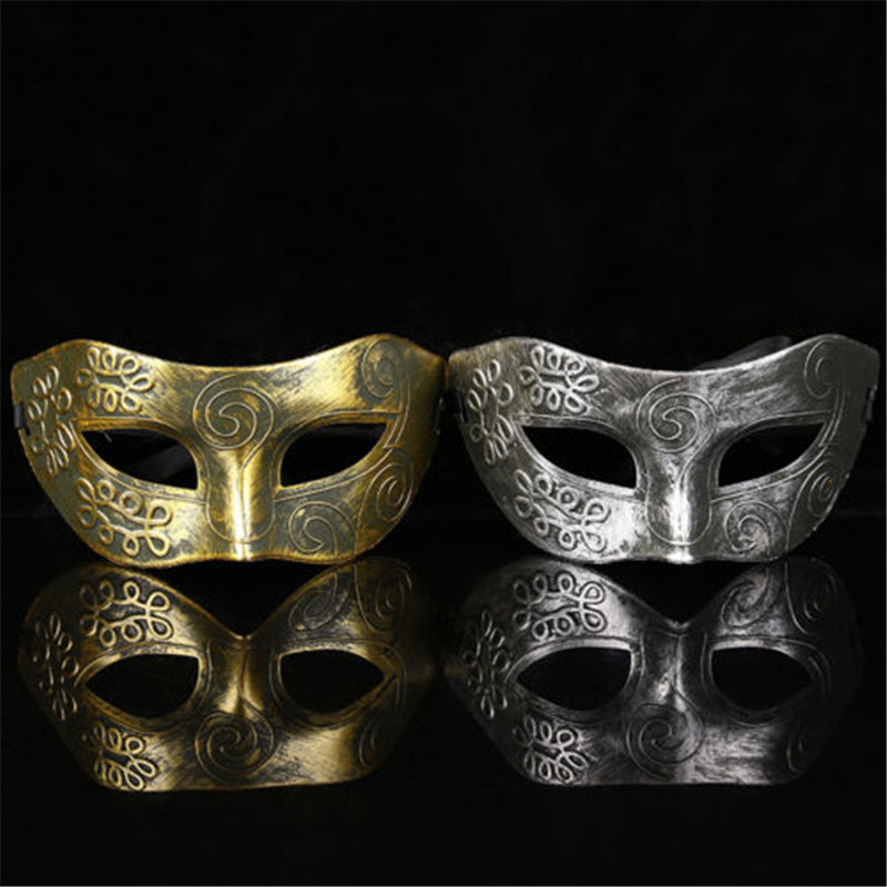 5 packs Roman Masquerade Venetian dance party Masks Gold and Silver unisex