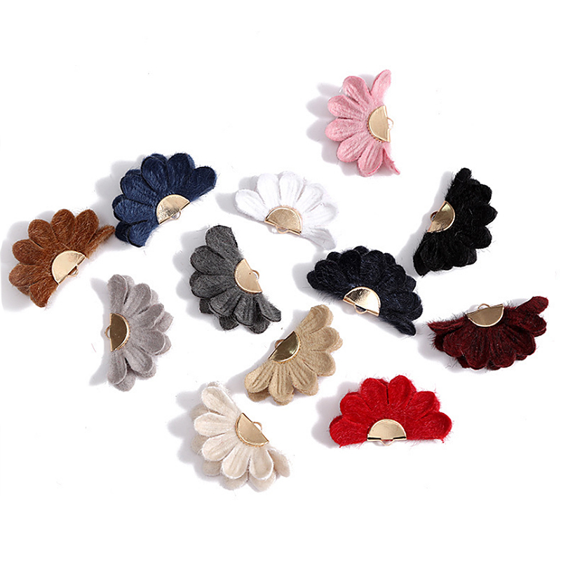 Aiovlo 10pcs/lot /Flower Tassel /Fan Shape Jewelry/jewelry Making/hand Made Jewelry/Metal Cap Earring Tassels/DIY Accessories