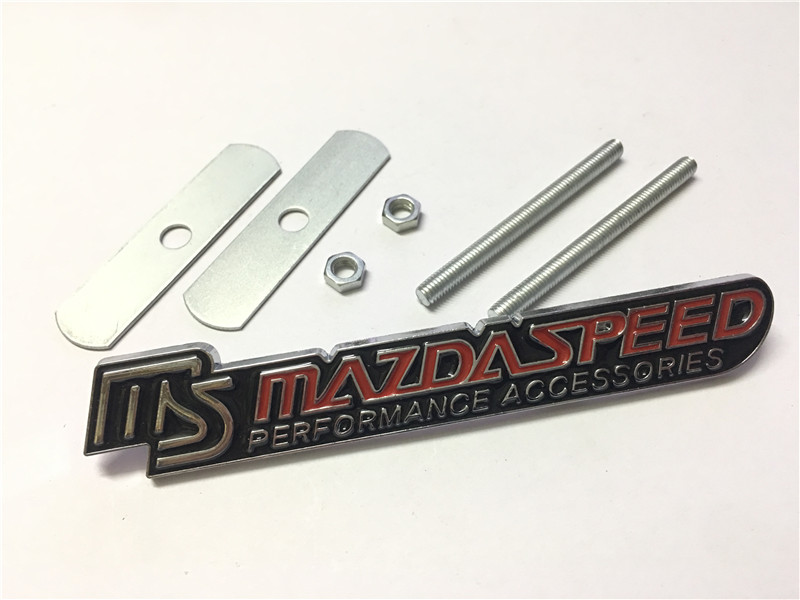 1pcs Luxury Car Front Body Grill Grilles Ms Mazdaspeed Great Metal Badge Emblem