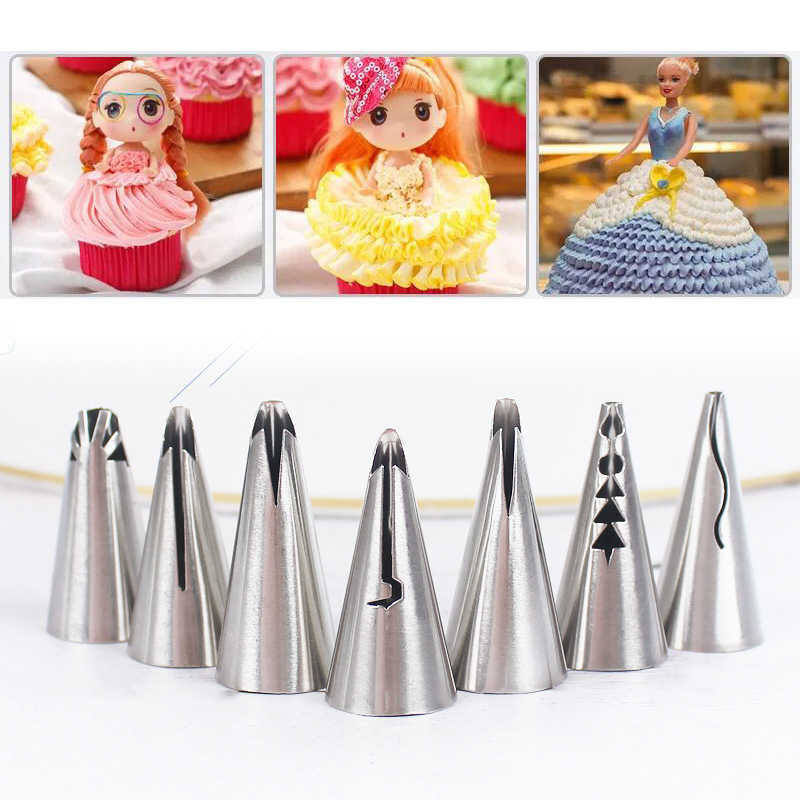 Wedding Bakeware 1PC Popular Skirt Nozzles Cake Nozzles Puff Baking Tools Pastry Decorating Hot Sale Cake Decoration Pastry