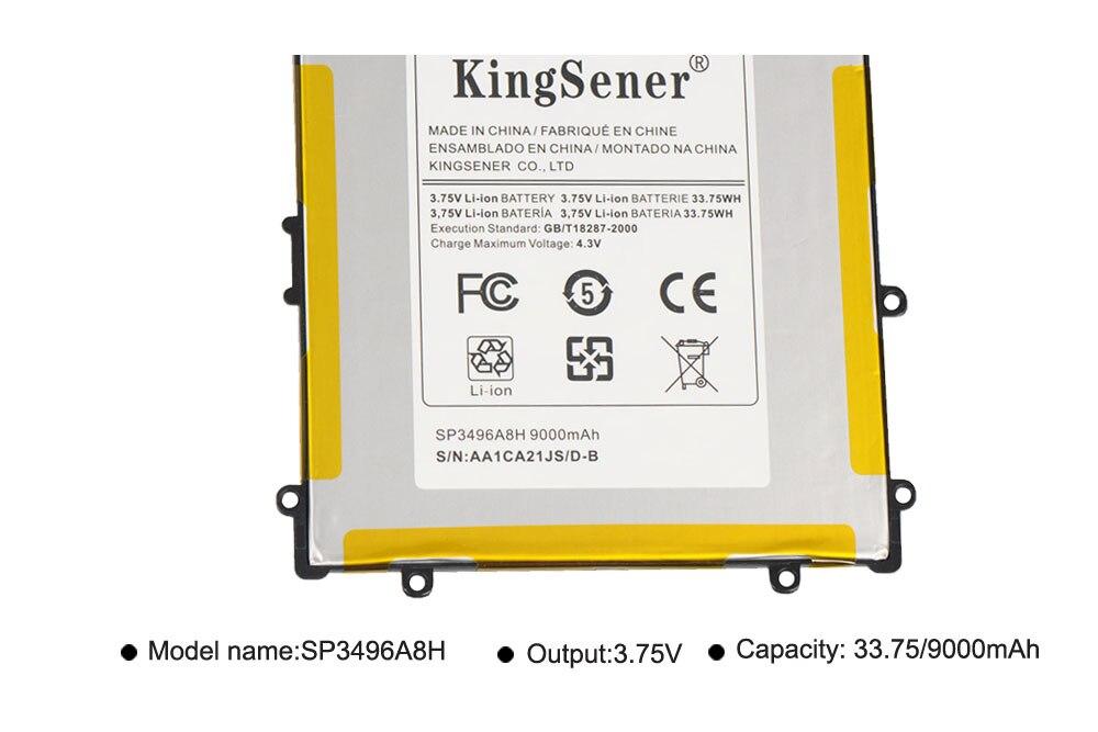 KingSener SP3496A8H Batteri För Samsung Google Nexus 10 N10 Tablet - Laptop-tillbehör - Foto 4