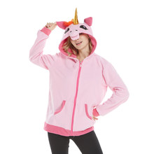 Golden Horn Pink Blue Unicorn Hoodie Anime Costume Adult Animal Pikachu Stitch Hooded Sweatshirt Cosplay(China)