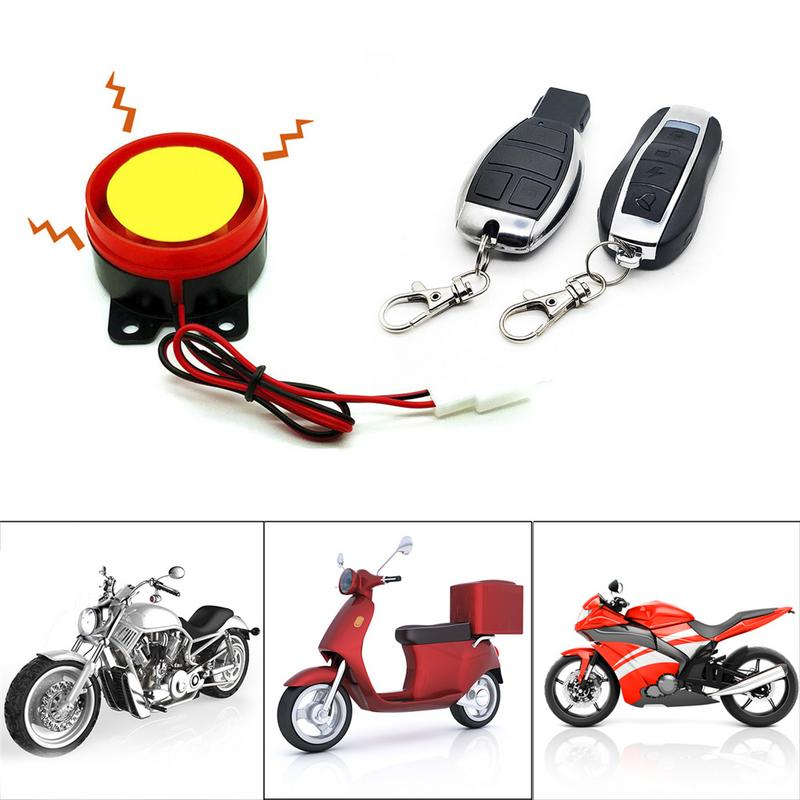 Universal Motorcycle Burglar Alarm Double Remote Control Optional Start-up Flameout Double Flashing Adjustment 12V