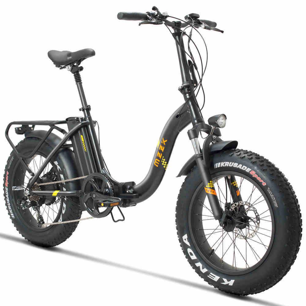 Bicicleta eléctrica de 20 pulgadas Ebike 4,0 neumáticos de nieve grasa playa 48 V bicicleta eléctrica plegable bicicleta 500 w nieve anchura de los neumáticos todoterreno