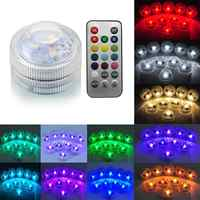IP68 13 Color Led Underwater Light Pond Submersible 4 Mode IP68 With Remote Control Waterproof Swimming Pool Light