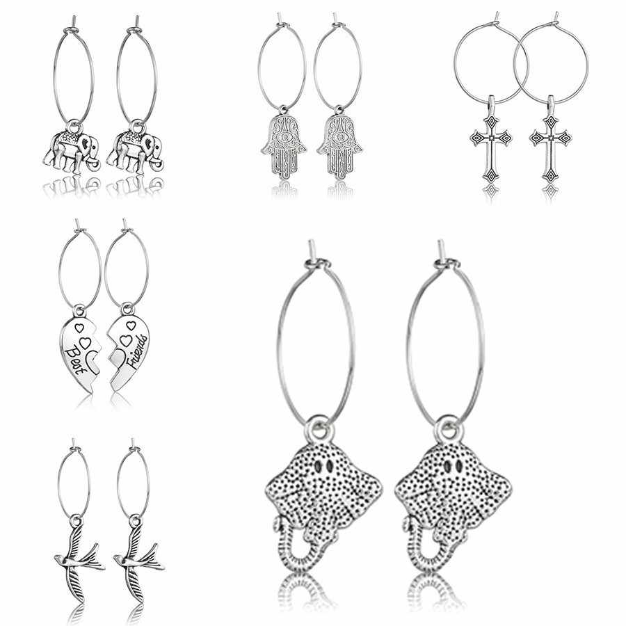 Women Trendy Korean Style Drop Earrings Gold And Silver Alloy Quality Jewelry Female Handmade Wedding Jewelry Gifts For Lovers