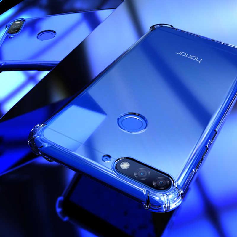 Прозрачный мягкий ТПУ чехол для телефона huawei P20 P30 mate 20 Pro Lite Nova 3 3i Honor 10 Lite 8X Play 9i 7C Противоударная подушка безопасности задняя крышка