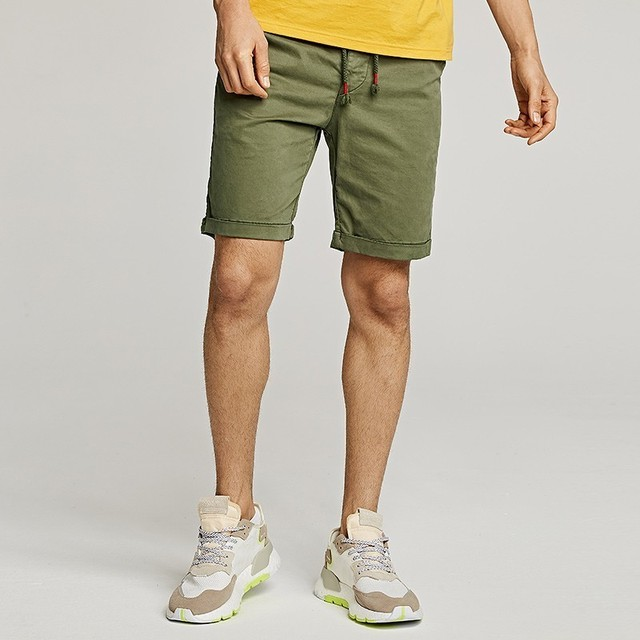 Men's Casual Shorts Cotton With Pocket Fashion Slim Fit