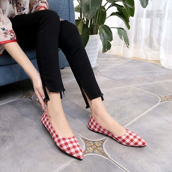 2019 Female Sneakers Leisure Gingham Canvas Shoes Women's Flat Shoes Students Trendy Shoes Classic Tenis Feminino Zapatos Mujer
