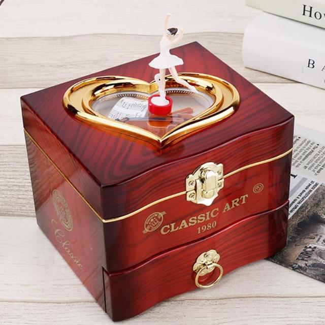 Wind-Up Misuc Box with Ballerina Figurine