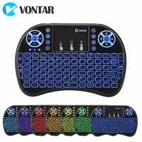 i8 Backlit keyboard English Russian Spanish with Touchpad 2.4G mini Keyboard Air Mouse For Android TV Box 8.1 X96 max Tanix TX6