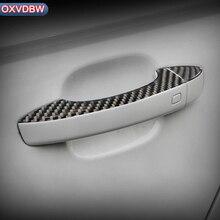 4 шт. углеродного волокна ручка двери анти-столкновения полоски наклейки для автомобиля Audi A6 C7 внутренняя отделка Аксессуары для стайлинга автомобилей 2011