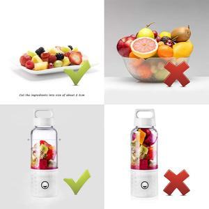 Image 5 - Portable Blender, Smoothie Blender USB Juicer Cup, 17oz Fruit Mixing Machine with 4000mAh Rechargeable Batteries, Detachable C