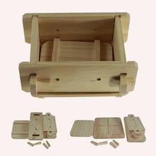 Basın kutusu restoran çıkarılabilir ahşap mutfak küçük ev üreticisi aksesuarları araçları DIY Tofu kalıp pişirme el yapımı
