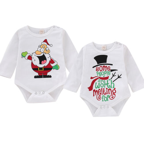 Xmas Newborn Baby Girl Boy Santa Claus   Romper   Playsuit Outfit Christmas
