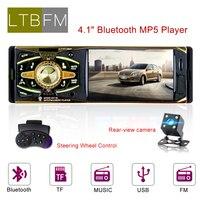 LTBFM Autoradio 1 din car radio 4011B car stereo bluetooth audio mp3 recorder usb sd aux input auto radio car player With Camera