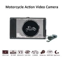 New Style 3inch For KY MT19 Motorcycle Driving Recorder Dash Cam Front Rear Camera Support Parking Monitoring DVR
