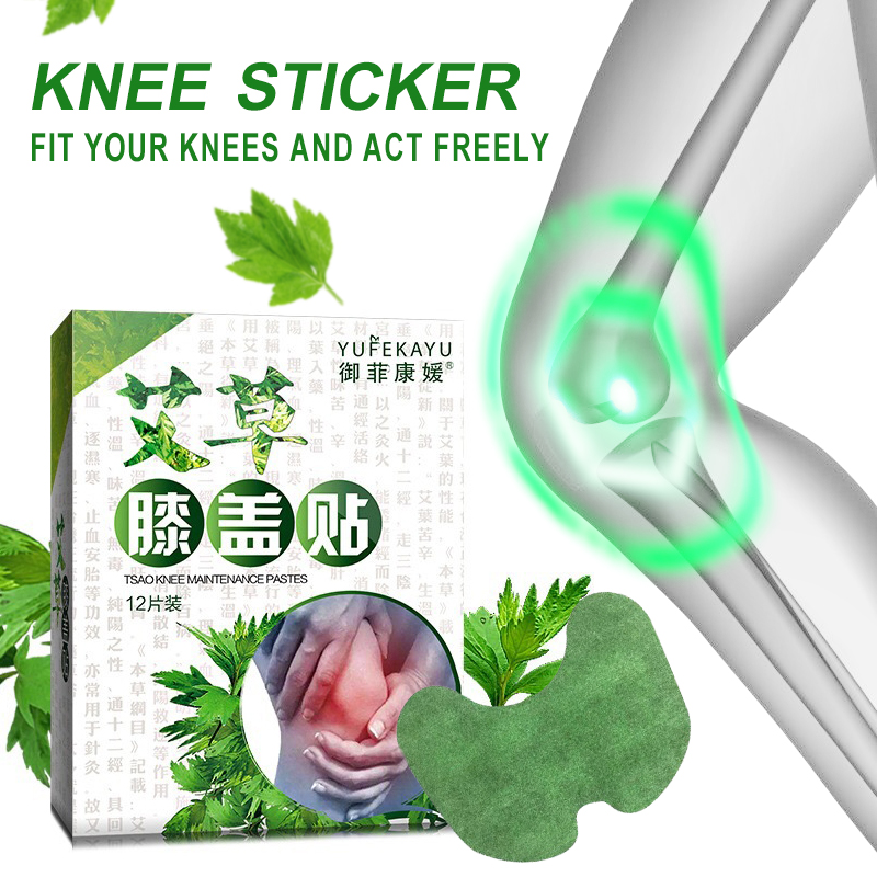 Dropship 12 Pcs Knee Patch Muscle Massage Arthritis Aches Relief Joint Pain Patch Mugwort Body Care Health Tool