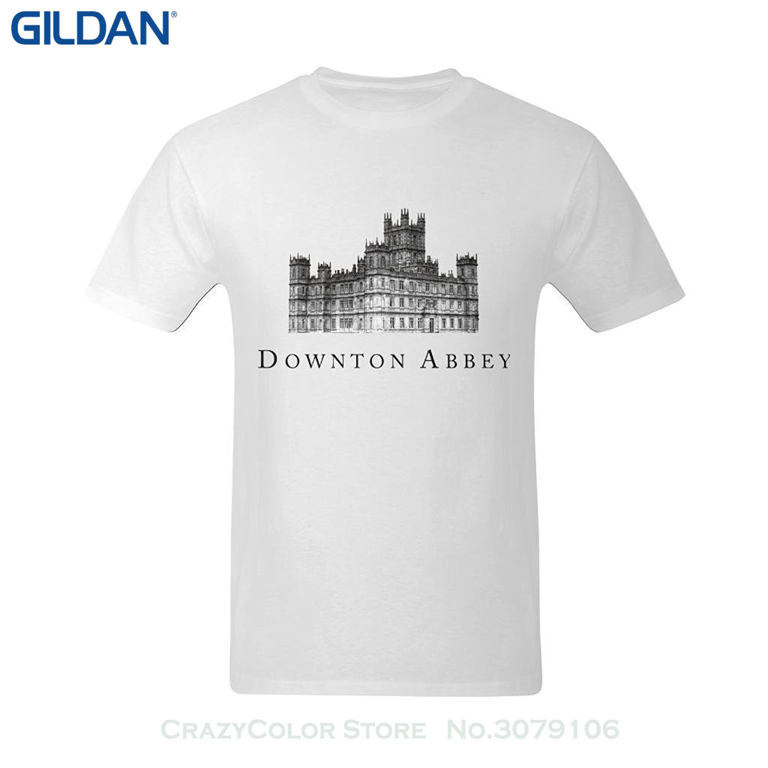 High Quality Custom Printed Tops Hipster Tees T-shirt Men's Downton Abbey Poster T-shirt