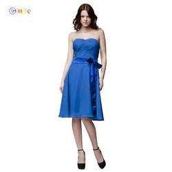 Coobee Дешевые Короткие шифон 9 Цвет нарядное платье для невесты 2018 A-Line Праздничное Платье de Casamen вечернее платье на Выпускной платья для