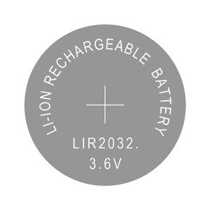 Image 2 - ボタン電池リチウムイオン充電式バッテリー LIR2032 置き換え CR2032 、リチウムコイン電池 lir 2032 3.6 12v 2 個