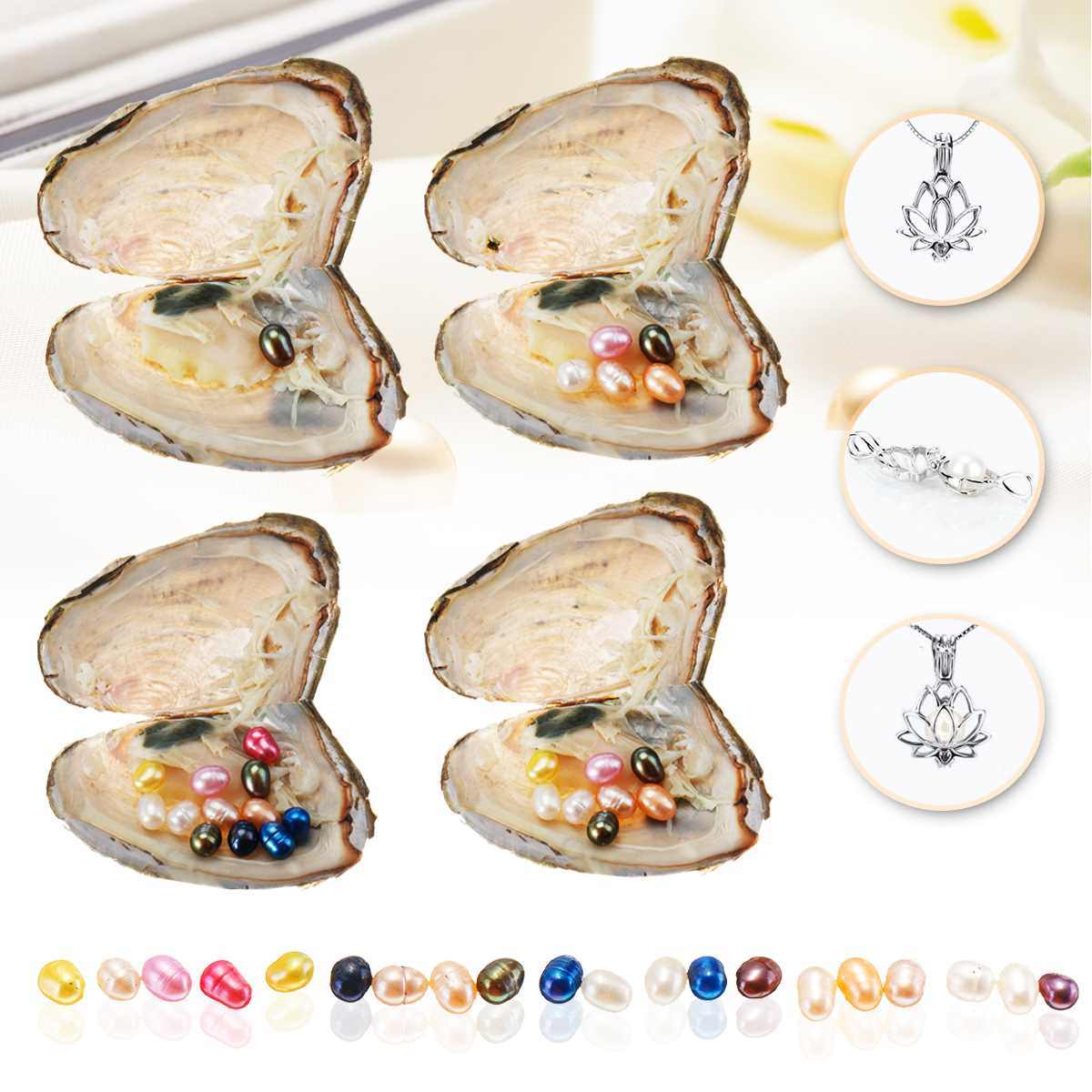 Natural Pearl Freshwater Cultured Pearl Oyster Multi-Color Rice Bead Oval Wishes Pearl Oyster DIY Birthday Gifts Mussel Fashion