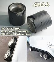 4pcs/lot 66MM INLET OD 93MM OUT Matte Carbon Fiber Exhaust tip For BMW M Performance F82 F83 M5 F10 M6 F12 F13 X5M X6M