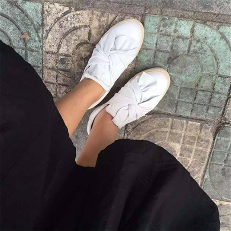 Diseñador Perezosos Y Caliente Arco nudo Pics Primavera Resbalón As Acogedor Pisos Pics Gran Cuero En Zapatos Shalllow as Verano De Mujer 6ZEq5rpq0w