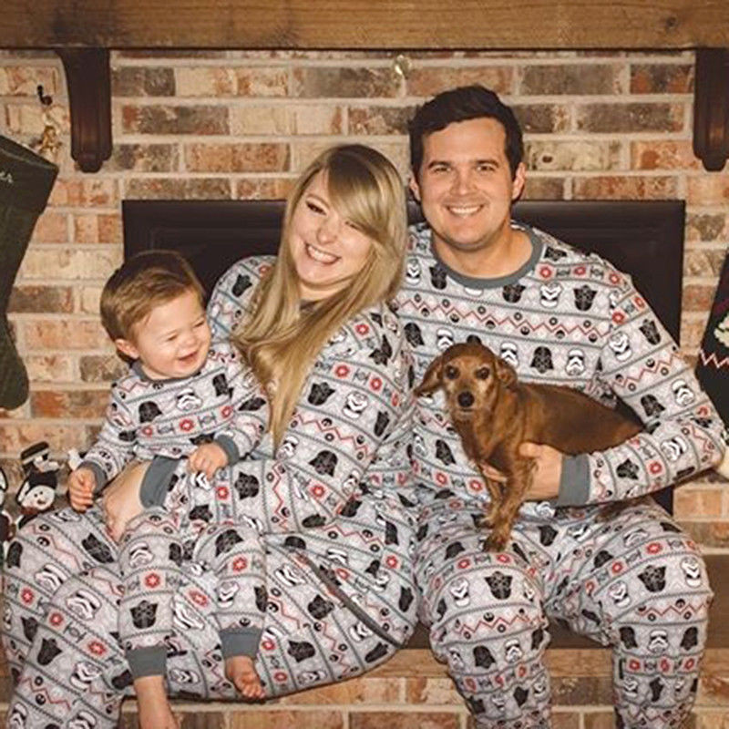 Father Mother Kids Family Matching Casual Loose Christmas St