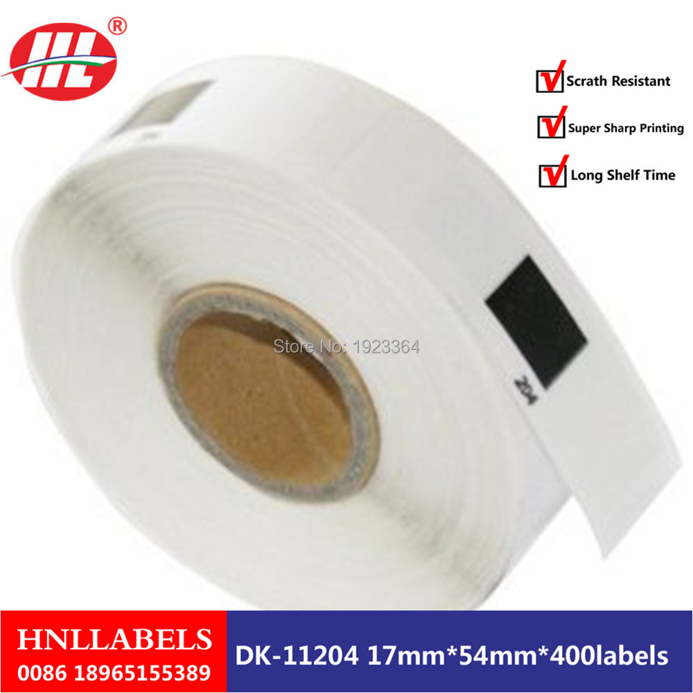 1X Rolls Brother Compatible DK-11204 Label 17X54mm DK-1204 P-Touch Thermal Label
