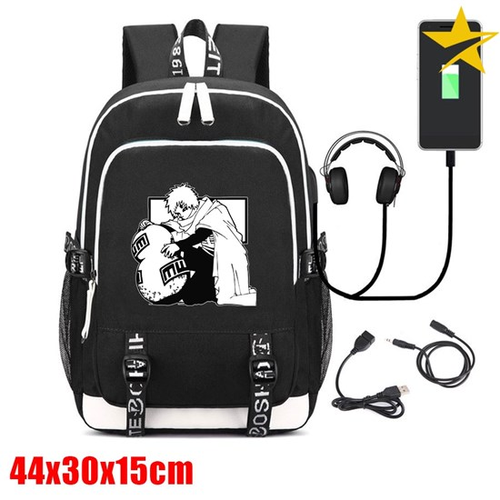 OHCOMCIS Anime Naruto Backpack Fashion Laptop Backpack USB Charging Anti Theft Backpack Unisex Travel Backpack School Bags