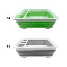 1 pc Collapsible Sink Kitchen Foldable Storage Colander Strainer Caravan Boat Camping Driner Rack Kitchen Storage Plate Holder