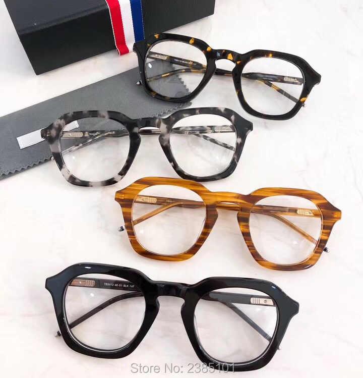 6071b636714 high quality Handmade Japanese plate frame retro Spectacles eye glasses  irregular frame thick Tortoise frame street