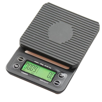 Botique-Coffee Digital Scale Kitchen Household Weigh Rushed Direct Limited 0.1g With Timer