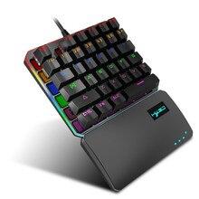 Mekanik Klavye Clavier Için Standart Mini Kablolu Oyun RGB Arkadan Aydınlatmalı Anahtar Kurulu Gamer Teclado Gamer 35 anahtar USB Arayüzü