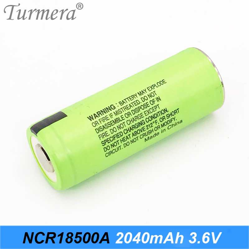 Original 3.6V 18500 NCR18500A 2040mAh Rechargeable Battery For Panasoniic flashlight rechargeable lithium battery 18500