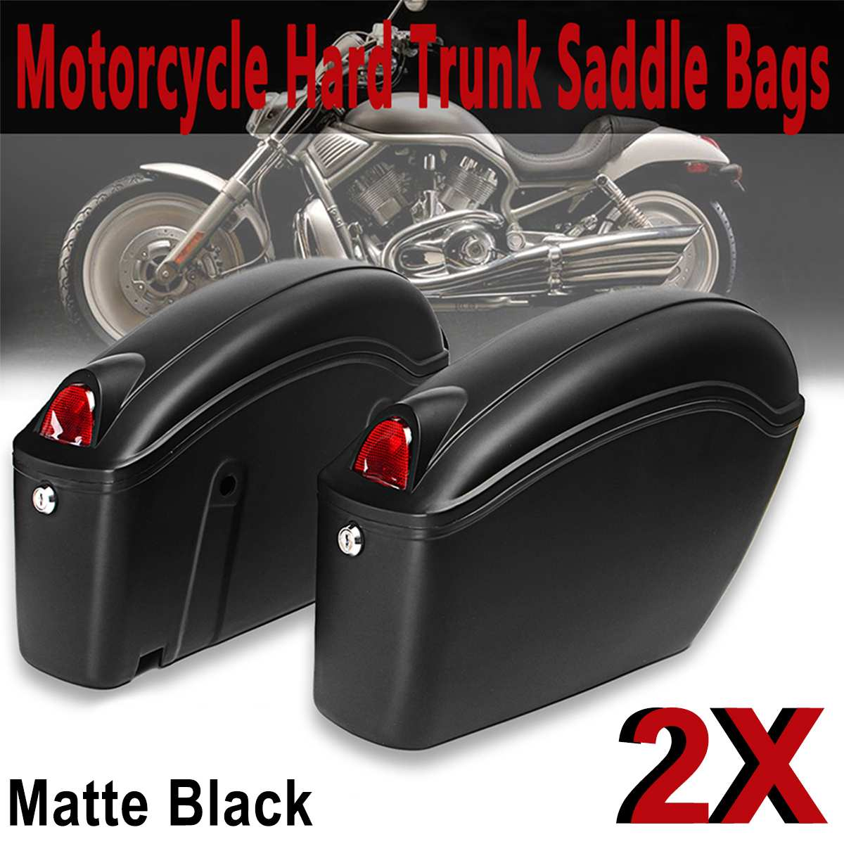 26L Hard Trunk Matte Black Universal Hard Saddlebags For Harley for Honda for Suzuki for Kawasaki26L Hard Trunk Matte Black Universal Hard Saddlebags For Harley for Honda for Suzuki for Kawasaki