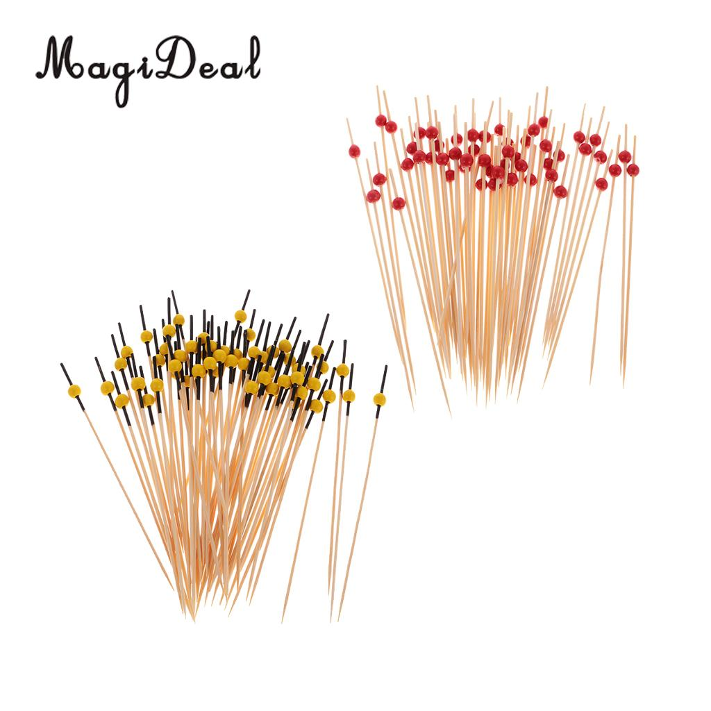 200pcs Heart Star Bead Cocktail Sticks Fruit Toothpicks Picks Party Favors