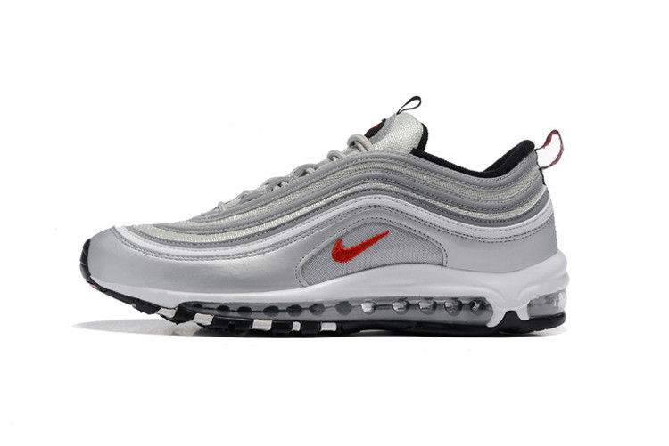 2607cfc8217 Classic Nike Air Max 97 Silver OG Retro Men Breathable 3M Running  Shoes