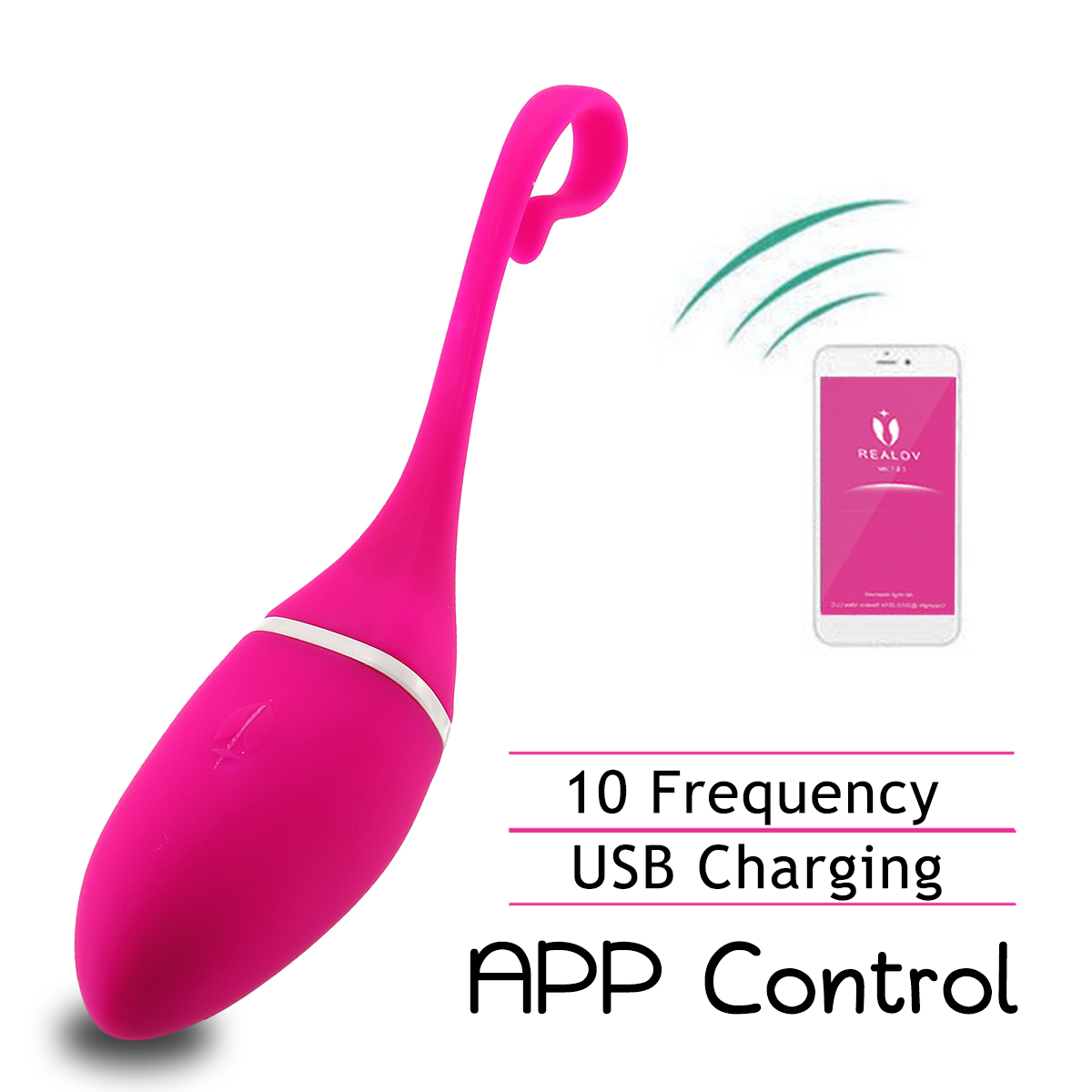 82ef8c0ccb7 Meselo Smart APP Control Vibrator Massager for Women Vibrating Eggs G spot Vibrator  Clitoral Stimulation Wireless Adult Sex Toy-in Vibrators from Beauty ...