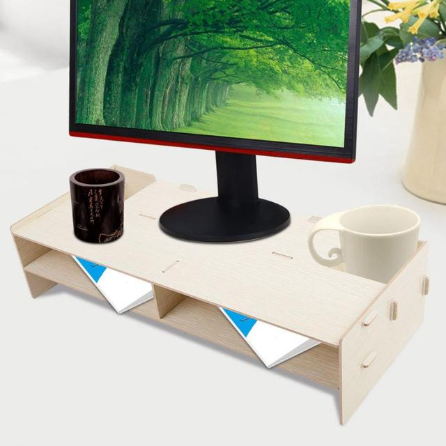 High Quality Laptop Table Modern Computer Monitor Laptop Stand Office Desktop Desk Shelf Storage Rack Display TV stand Furniture