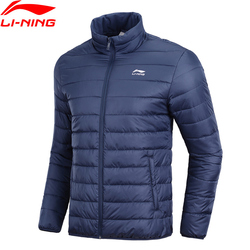 Li-Ning Männer Der Trend Sport Wadded Mantel Winter Warme Baumwolle Gefütterte 100% Polyester Füllung Futter Sport Jacke AJMN009 MWM1905