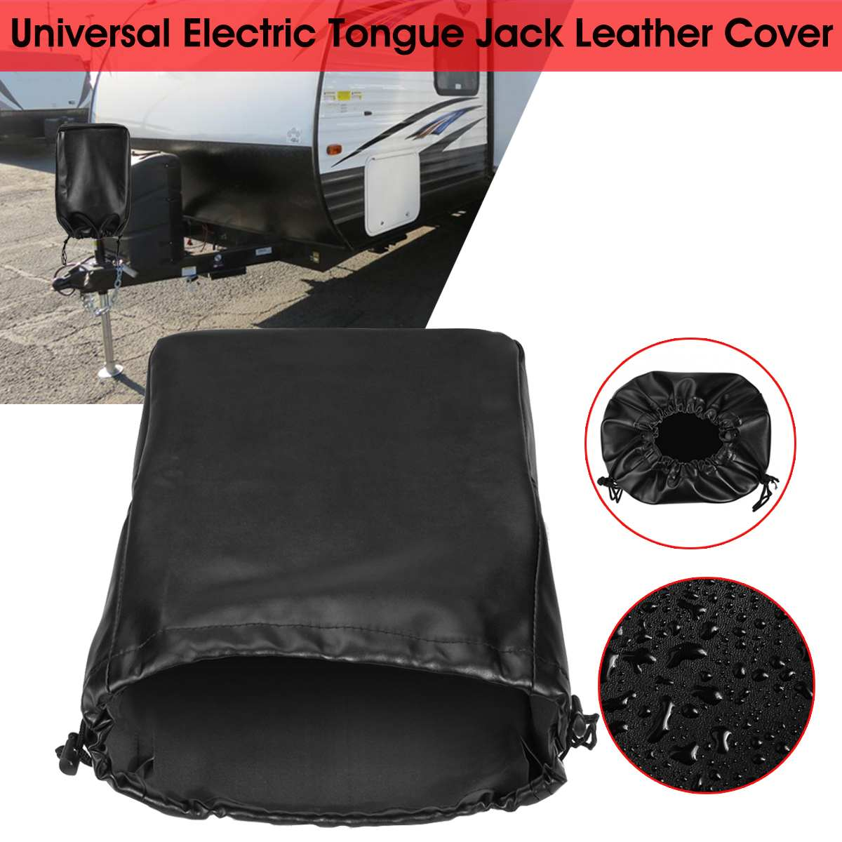 Universal RV Truck Electric Tongue Jack Cover Sunshade Protection Waterproof Dustproof