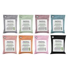 8 цветов очиститель воздуха мешок активированный уголь бамбуковый запах purifier автомобильный дезодорант