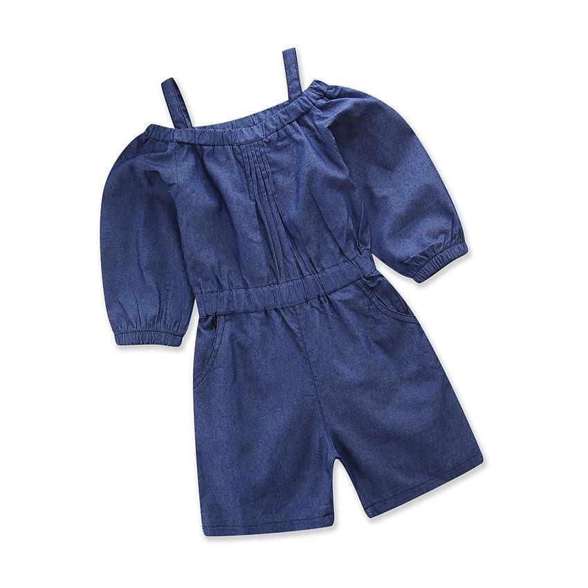 d90944a7a9c9 Hot Sale Denim Baby Kids Overalls Summer Children Clothing Fashion Bib Pants  Girl Jumpsuits Toddler Kids