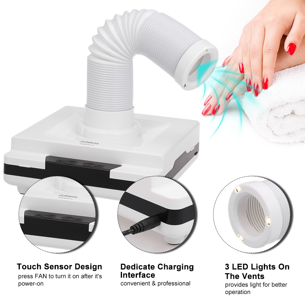 60w Nail Fan Nail Dust Collector Vacuum Cleaner Dust