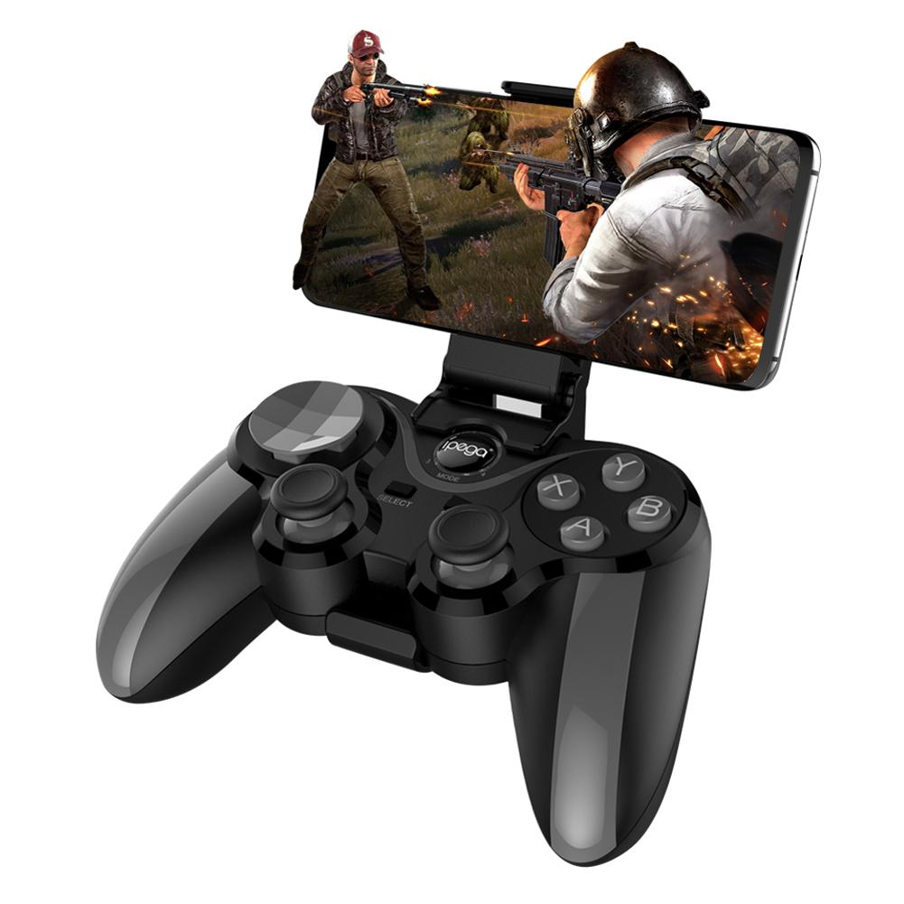 New PG-9128 Wireless Bluetooth 4.0 Gamepad Double Vibrating With Display Game Console Joystick For IOS Android Gamepad