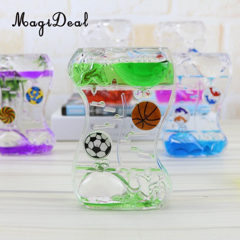 Floating Color Mix Illusion Whale Ball Floating Oil Hourglass Liquid Motion Toy Bubble Timer Desk Gadget